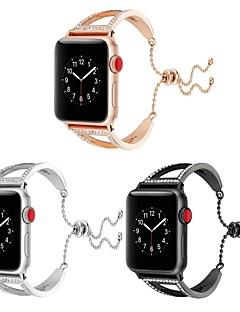 billige Ur Tilbehør-Rustfrit stål Urrem Strap for Apple Watch Series 3 / 2 / 1 Sort / Sølv 23cm / 9 tommer 2.1cm / 0.83 Tommer
