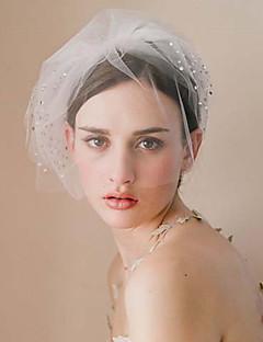 billiga Brudslöjor-Ett lager Vintage Stil / Klassisk Stil Brudslöjor Rouge Slöjor med Glitter / Enfärgad Tyll