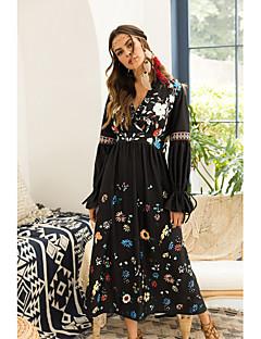 baratos Vestidos de Festa-Mulheres Bainha Vestido Sólido Médio