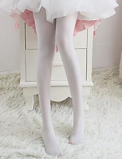 billiga Lolitaaccessoarer-Strumpor / Strumpbyxor Glamorös & Dramatisk Dam Vit Enfärgad Strumpbyxor Chinlon Kostymer