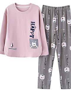 preiswerte Designerkollektionen-Damen Rundhalsausschnitt Anzüge Pyjamas Patchwork