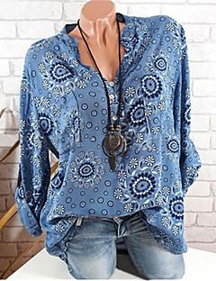 Χαμηλού Κόστους Γυναικείες Μπλούζες-Γυναικεία Πουκάμισο Βασικό Φλοράλ