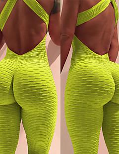 b86f18ecc36 Women s Ruched Butt Lifting Romper Workout Jumpsuit Sky Blue Royal Blue  Burgundy Sports Solid Color Spandex High Rise Leggings Bodysuit Zumba Yoga  Gym ...