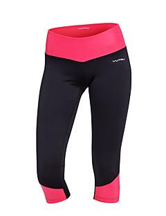 billige Løbetøj-Dame Lomme Løbebukser 3/4 Sport Farveblok Spandex 3/4 Tights Yoga, Fitness, Træning Sportstøj Hurtigtørrende, Åndbart, Komprimering Høj Elasticitet Tynde