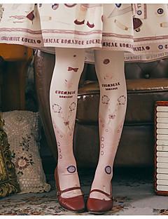 billiga Lolitaaccessoarer-Strumpor / Strumpbyxor Stilig Dam Rosa lolita tillbehör Tryck Strumpor Bomull / Polyester Halloweenkostymer