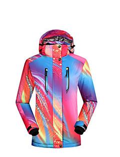 billiga Skid- och snowboardkläder-Dam Skidjacka Vindtät, Varm Skidor Bomull Överdelar Skidkläder