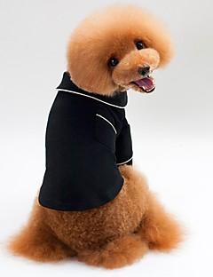 billiga Hundkläder-Hund / Katt Pyjamas / T-shirts Hundkläder Enfärgad Svart Terylen Kostym För husdjur Unisex Ledigt / vardag / Minimalistisk Stil