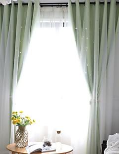 billige Gardiner-gardiner gardiner Soverom Moderne Bomull / Polyester Reaktivt Trykk