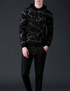 billige Hættetrøjer og sweatshirts til herrer-Herre Langærmet Tynd Hætte Hattetrøje - Farveblok