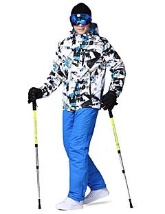 billiga Skid- och snowboardkläder-Wild Snow Herr Skidjacka och -byxor Vindtät, Varm, vattenbeständigt Skidåkning / Camping / Multisport Polyester, 100 % bomull Klädesset Skidkläder / Vinter