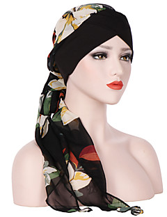 billige Hatter til damer-Dame Grunnleggende / Ferie Solhatt Blomstret