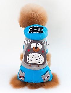 billiga Hundkläder-Hund / Katt Kappor Hundkläder Färgblock / Mönstrad / Figur Gul / Blå Cotton Kostym För husdjur Unisex Ledigt / vardag / Minimalistisk Stil
