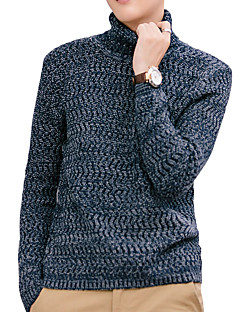 baratos Suéteres & Cardigans Masculinos-Homens Activo / Moda de Rua Pulôver - Sólido