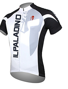ILPALADINO Men s Short Sleeve Cycling Jersey - White Patchwork Bike Jersey  Top Breathable Quick Dry Ultraviolet Resistant Sports Polyester 100%  Polyester ... 14c277a23