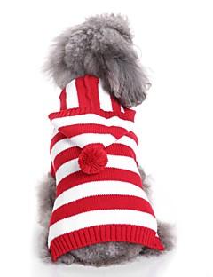 billiga Hundkläder-Hund Tröjor Hundkläder Crewels / Färgat garn / Figur Fuchsia / Röd / Blå Terylen Kostym För husdjur Unisex Ledigt / vardag / Minimalistisk Stil