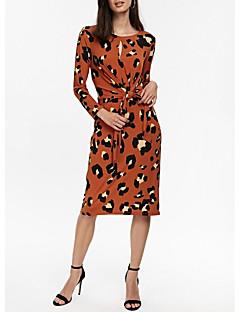 tanie AW 18 Trends-Damskie Elegancja Pochwa Sukienka Do kolan