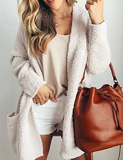 tanie Swetry damskie-Damskie Moda miejska Sweter rozpinany Solidne kolory