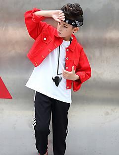 tanie Dziecięca odzież do tańca-Jazz Topy Dla chłopców Spektakl Spandeks Marszcząca się Długi rękaw Płaszcz