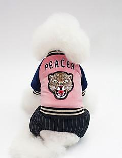 billiga Hundkläder-Hund Kappor Hundkläder Figur / Slogan Mörkblå / Grön / Rosa Cotton Kostym För husdjur Unisex Uppvärmning / Minimalistisk Stil