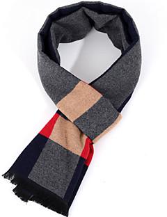 cheap Men's Scarves-Men's Basic Rectangle Scarf - Color Block Tassel / Winter