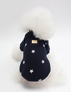 billiga Hundkläder-Hund Tröja Hundkläder Figur / Stjärnor Mörkblå / Rosa Cotton Kostym För husdjur Unisex Söt Stil / Uppvärmning