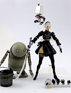 billige Anime cosplay-Anime Action Figurer Inspirert av Nier: Automata 2B PVC 14 cm CM Modell Leker Dukke