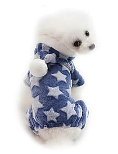 billiga Hundkläder-Hund Huvtröjor Hundkläder Enfärgad / Tecknat / Stjärnor Grå / Blå / Rosa Cotton Kostym För husdjur Unisex Söt Stil / Håller värmen