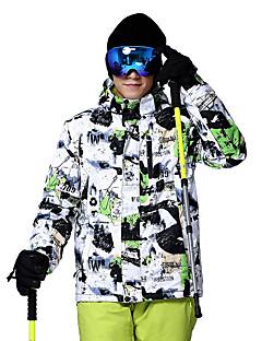billiga Skid- och snowboardkläder-Wild Snow Herr Skidjacka Vindtät, Varm, Ventilerande Skidåkning / Multisport / Vintersport Polyester Dunjackor Skidkläder