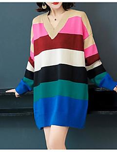 tanie AW 18 Trends-damska luźna sukienka z dekoltem w szpic