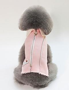 billiga Hundkläder-Hund / Katt Jakke Hundkläder Figur / Brittisk Blå / Rosa Cotton Kostym För husdjur Unisex Uppvärmning / Minimalistisk Stil
