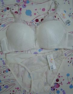 billiga Mammakläder-Kvinnors Sexig Push-up / Spetsbehå / Bygelbehå Behå- och trosset 3/4 컵 - Enfärgad