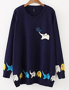 baratos Suéteres de Mulher-Mulheres Moda de Rua Pulôver - Animal