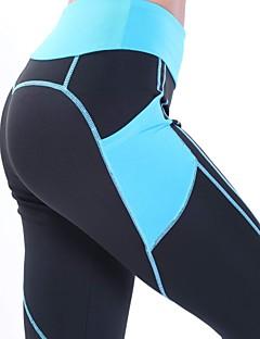 billige Løbetøj-Dame Patchwork / Lomme Yoga bukser - Hvid / Sort, Blå og sort, Sort / Pink Sport Hjerte Højtaljede Tights / Leggins Løb, Fitness, Træningscenter Sportstøj ANT +, Hurtigtørrende, Sterilisere Elastisk