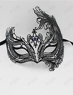 billige Halloweenkostymer-Prinsesse Venetiansk maske Masquerade Mask Dame Voksne Halloween Halloween Maskerade Festival / høytid Drakter Blå / Gylden / Mørkegrønn Gitter / Teppe Metallfinish