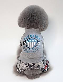 billiga Hundkläder-Hund Kappor Hundkläder Brittisk / Slogan Svart / Grå Akrylik Fiber Kostym För husdjur Unisex Ledigt / vardag / Uppvärmning