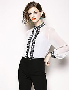 billige Dametopper-Skjorte Dame - Fargeblokk, Broderi Gatemote