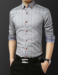 tanie Koszule-Koszula Męskie Podstawowy Kratka