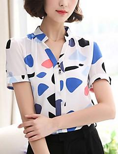 billige Bluse-Dame - Geometrisk Perler / Patchwork Forretning / Gade Bluse