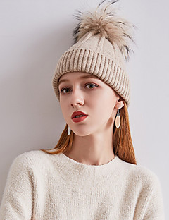 billige Hatter til damer-Dame Vintage / Ferie Solhatt / Skilue Ensfarget