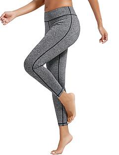 billiga Träning-, jogging- och yogakläder-Dam Ficka Yoga byxor - Blå, Mörkgrå, Roströd sporter Ensfärgat Cykling Tights / Leggings Dans, Löpning, Fitness Sportkläder Snabb tork, Butt Lift, Magkontroll Hög Elasisitet Skinny