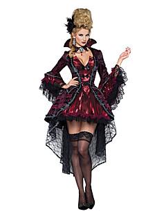 billige Halloweenkostymer-Vampyrer Queen Cosplay Kostumer Party-kostyme Dame Jul Halloween Karneval Festival / høytid Terylene Drakter Rød Svart Vintage