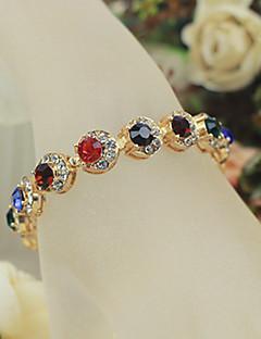 billiga Lolitamode-Lolita Accessoarer Kedja Armband Prinsess Lolita girly Dam Röd Enfärgad Mosaik Armband / Fotledsband Konstädelstenar Kostymer