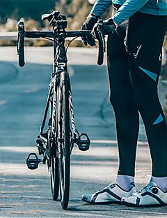 billige Sykkelbukser,Shorts,Strømpebukser, Tights-SANTIC Herre Sykkelbukser Sykkel Bukser Vindtett Ensfarget Svart / Rød / Svart / Grønn / Svart / Blå Sykkelklær / Høy Elastisitet