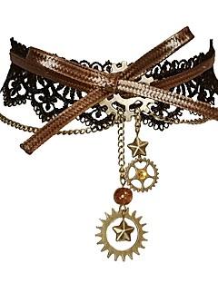 billiga Lolitaaccessoarer-Cosplay Plague Doctor Dam Flickor Steampunk Stjärna Urverk Chokerhalsband Till Maskerad Dagliga kläder 1 Halsband Kostymsmycken / Spets