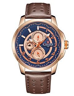 NAVIFORCE Pánské Náramkové hodinky japonština Japonské Quartz 30 m  Voděodolné Kalendář Hodinky na běžné nošení Pravá kůže Kapela Analog -  Digitál Na běžné ... 3bff14a2240