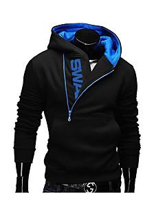 cheap Men's Hoodies & Sweatshirts-Men's Active Long Sleeve Hoodie - Color Block Hooded Dark Gray 4XL / Fall / Winter