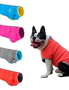 billiga Hundkläder-Hund / Katt Tröja Hundkläder Färgblock / Klassisk / Lolita Grå / Fuchsia / Blå Polär Ull / Plysch Kostym För husdjur Herr / Dam Ledigt / vardag / Håller värmen / Nyår