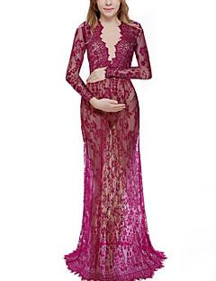 tanie Sukienki-Damskie Elegancja Pochwa Sukienka - Solidne kolory Maxi