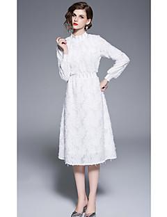 baratos Vestidos de Formatura-Linha A Gola Alta Até os Joelhos Microfibra Jersey Coquetel Vestido com Pregas de LAN TING Express