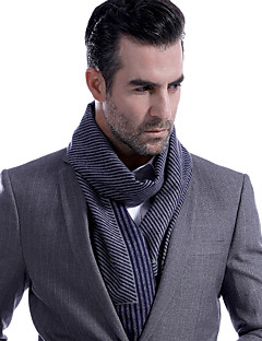 cheap Men's Scarves-Men's Work / Basic Rectangle Scarf - Striped Pleated / Fall / Winter